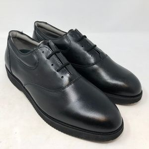 Spare time mens dress shoes oxford leather black